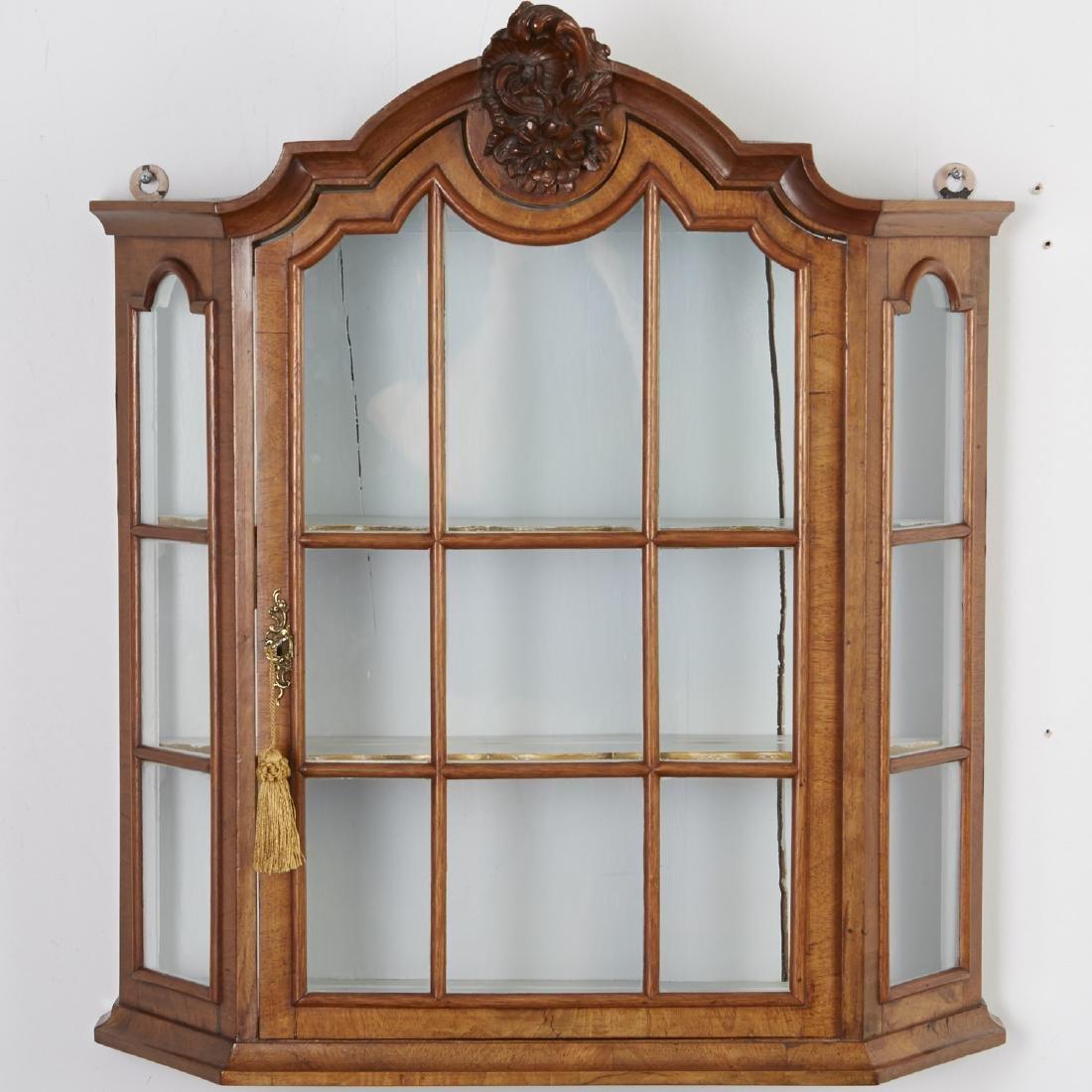 Antique Hanging Display Cabinet