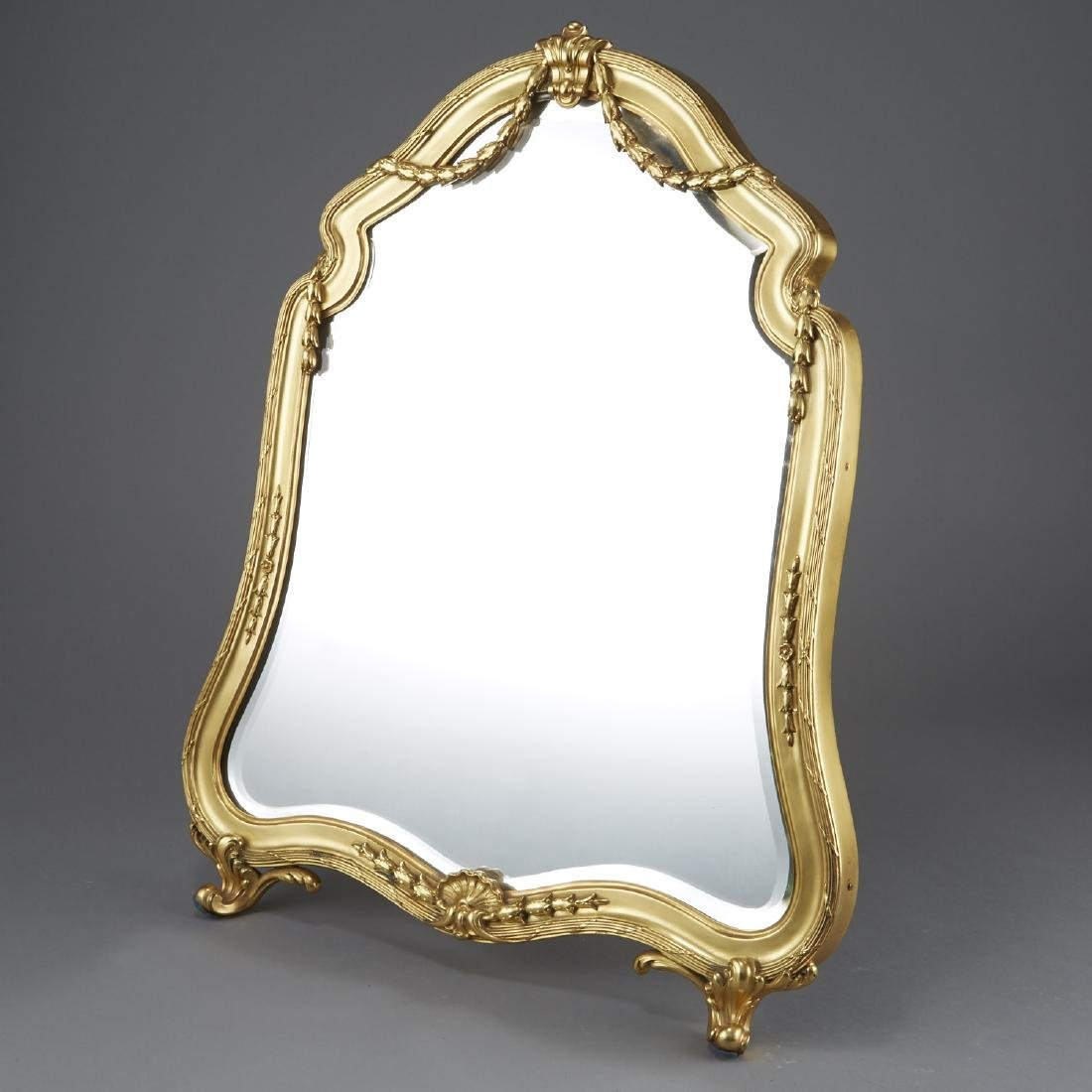 Aucoc of Paris Silver Gilt Table Mirror - 2