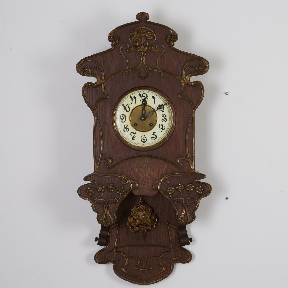 Lenzkirch German Art Nouveau Wall Clock