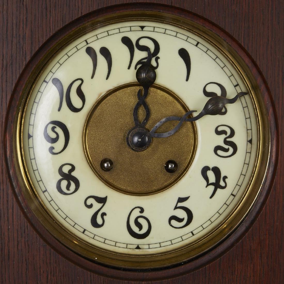 Lenzkirch German Art Nouveau Wall Clock - 2