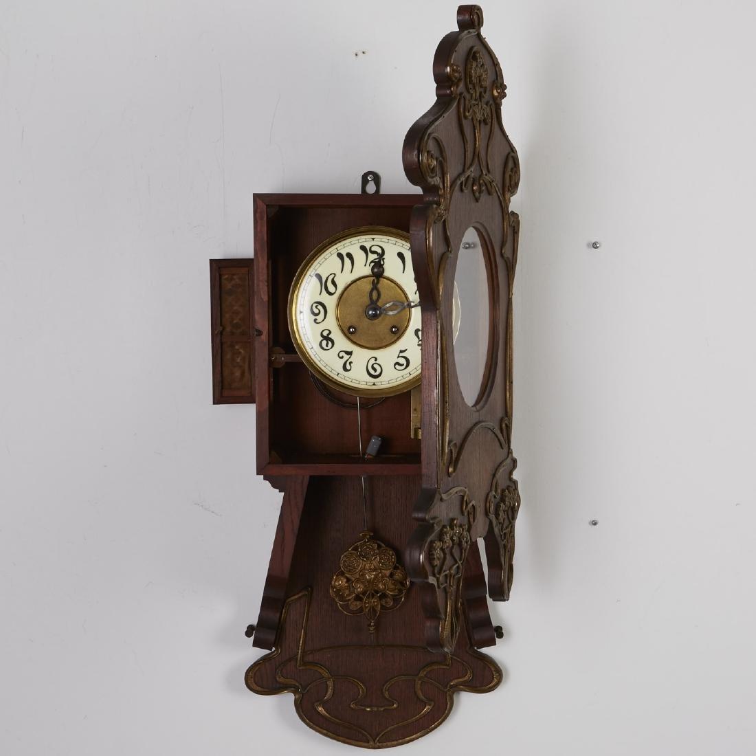 Lenzkirch German Art Nouveau Wall Clock - 4