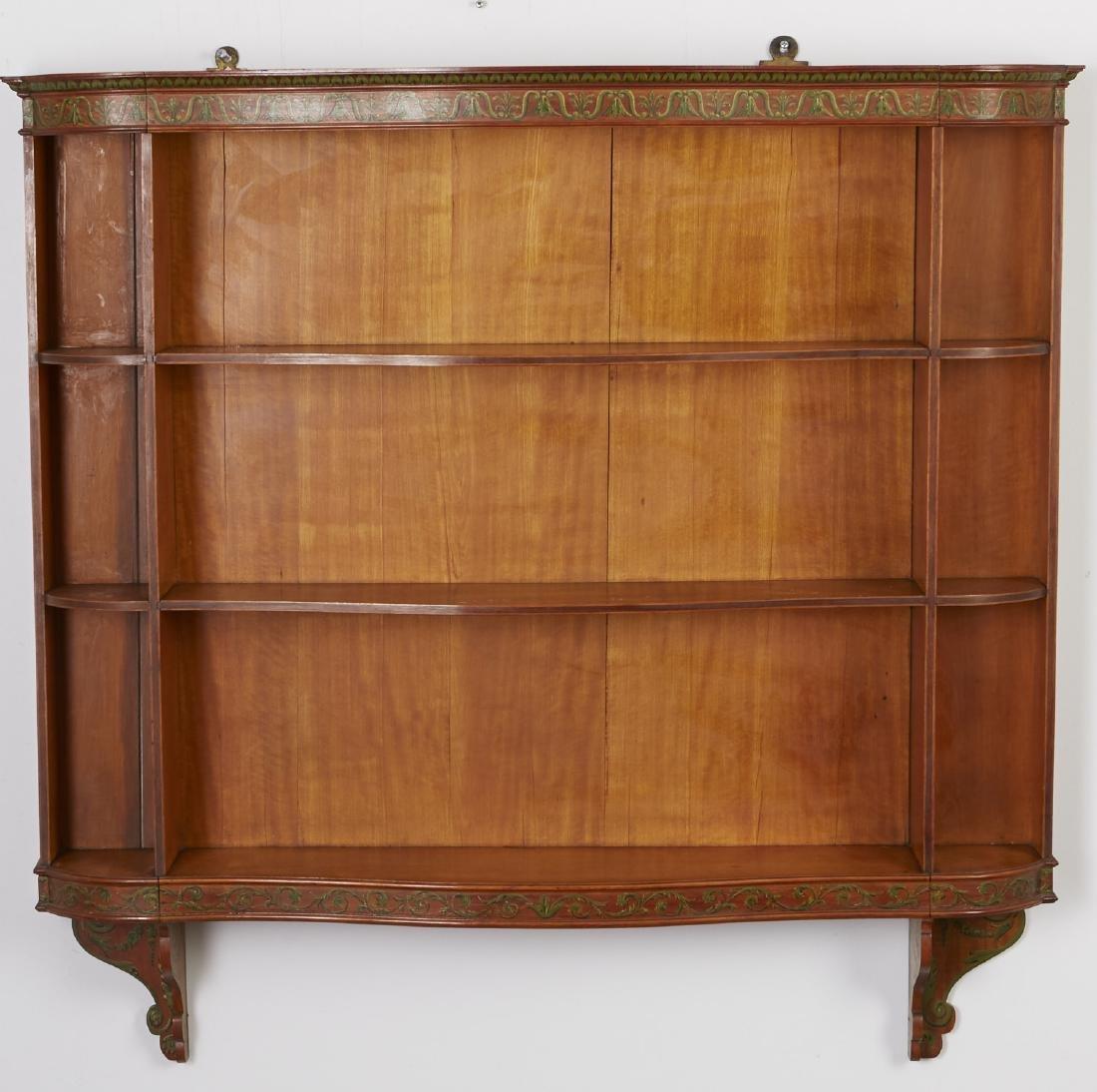 Adams Style Satinwood Wall Shelf
