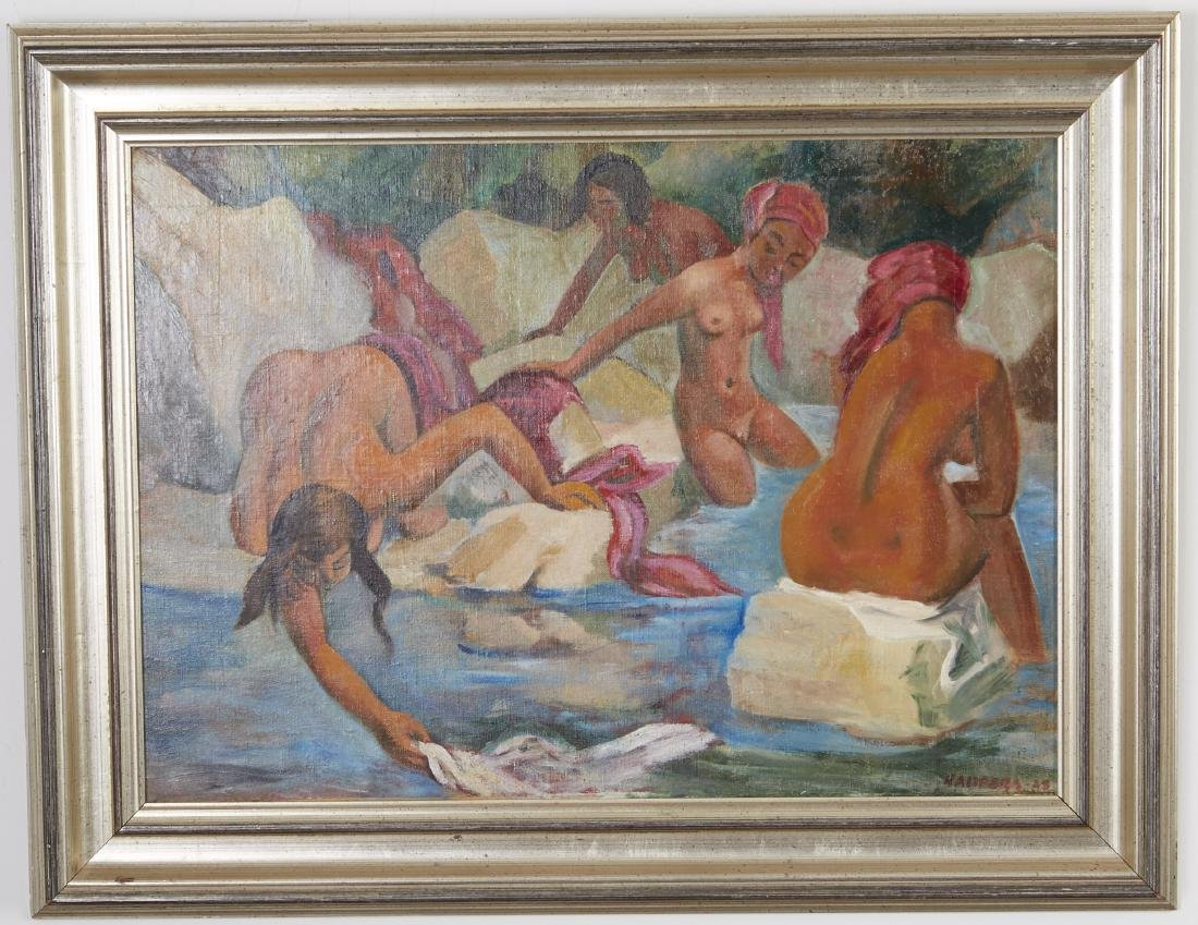 Clement Haupers Oil Painting Nude Bathers - 2