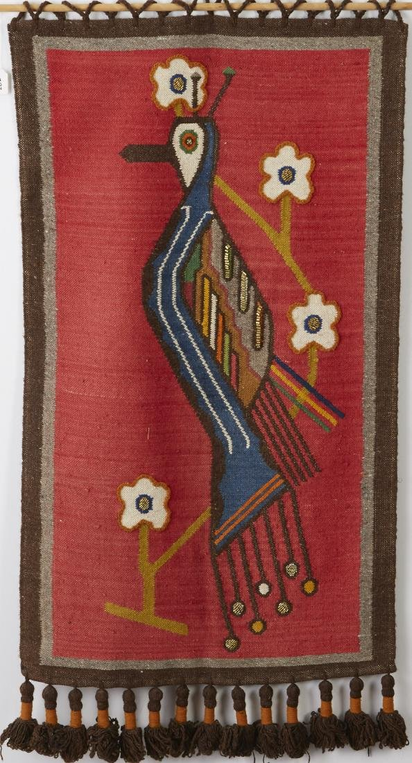 Olga Fisch Woven Wool Tapestry