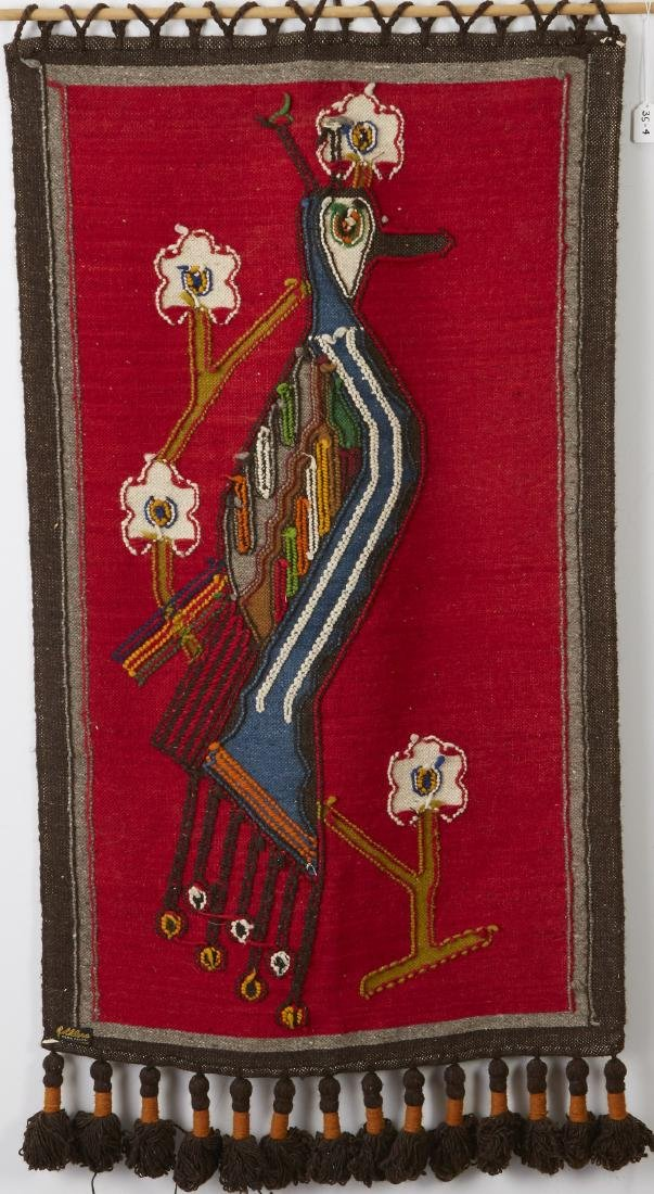 Olga Fisch Woven Wool Tapestry - 2