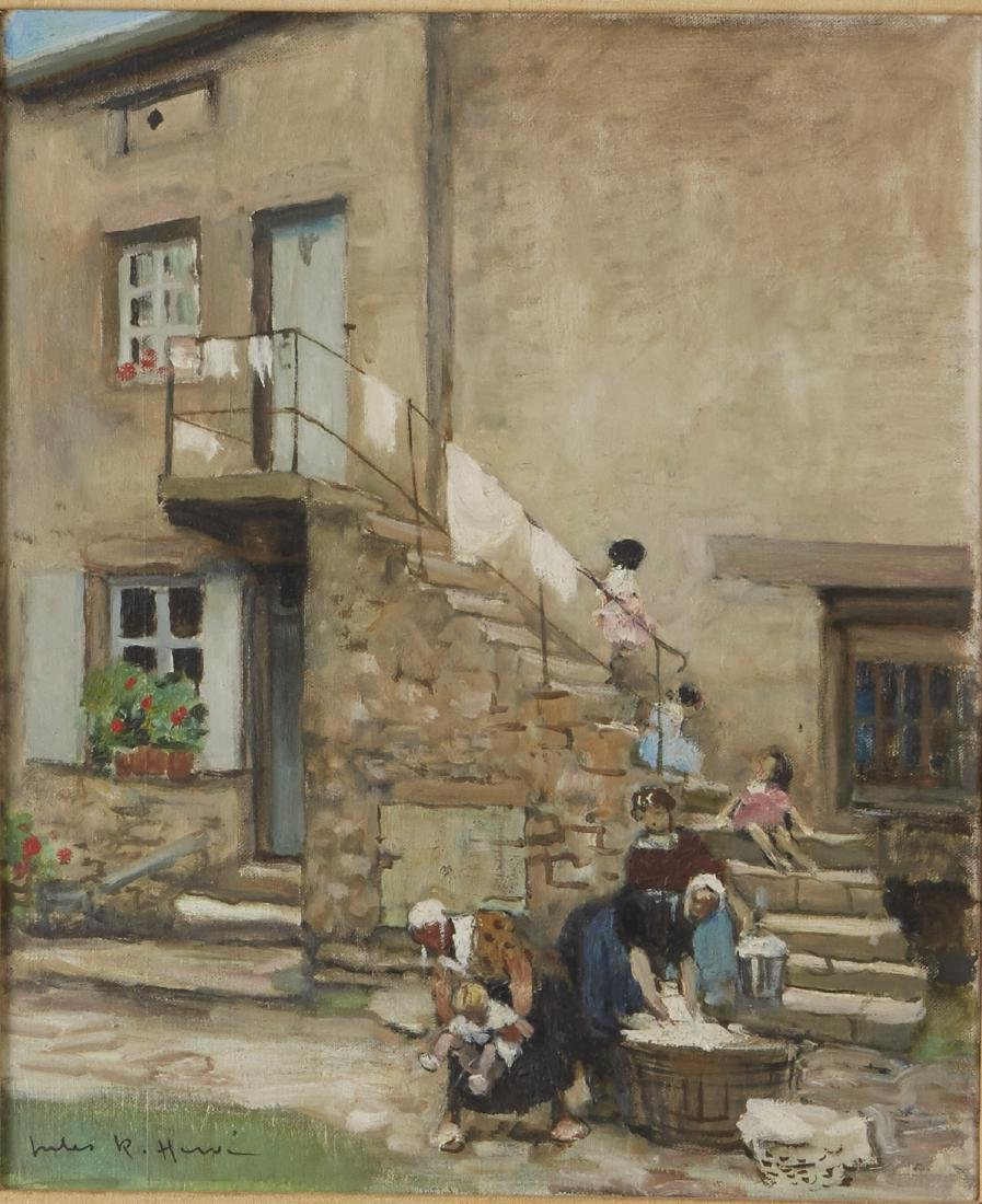 Jules R. Herve Oil on Canvas