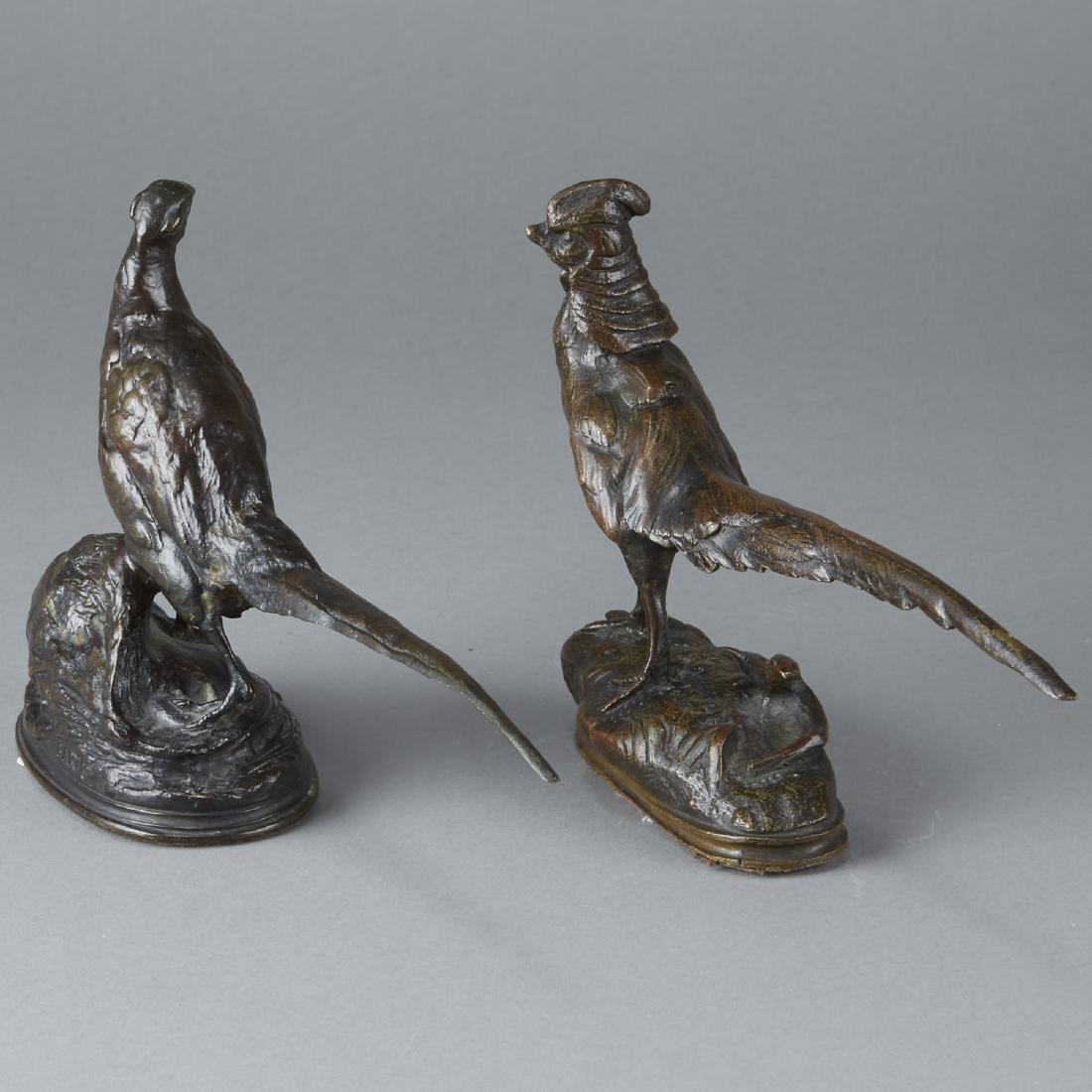 Pair of Barye Bronze Pheasants - 2