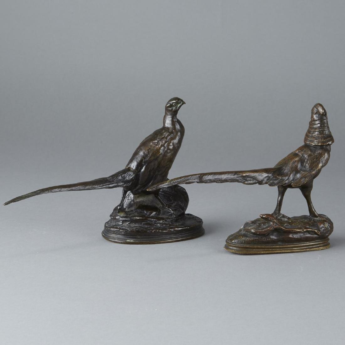 Pair of Barye Bronze Pheasants - 3