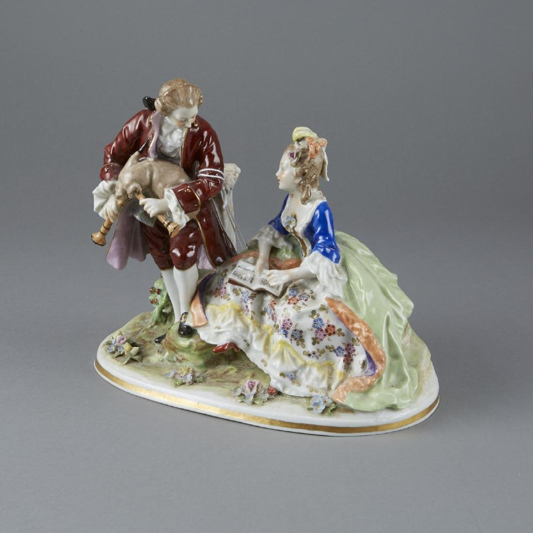 Capodimonte Figural Porcelain Group