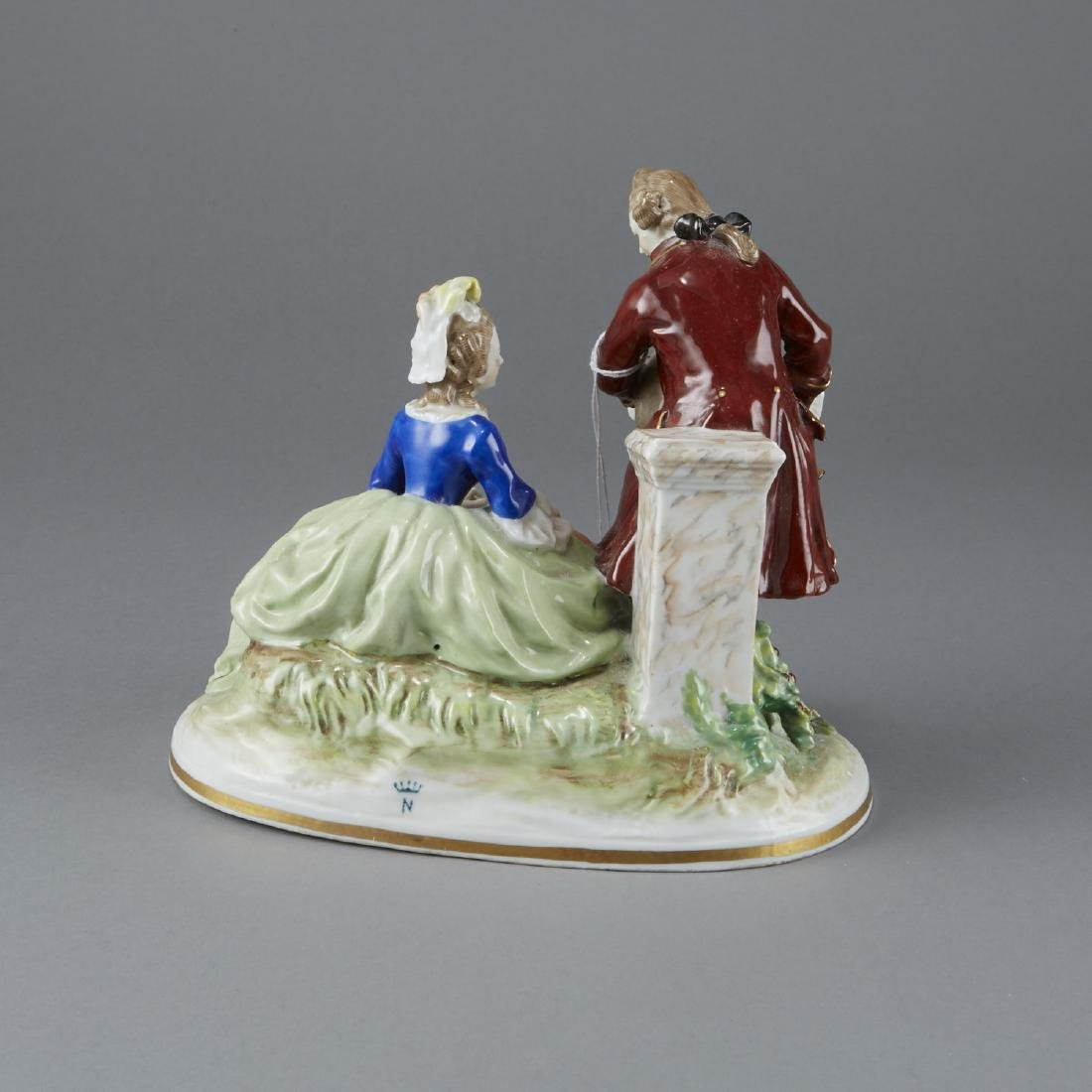 Capodimonte Figural Porcelain Group - 2