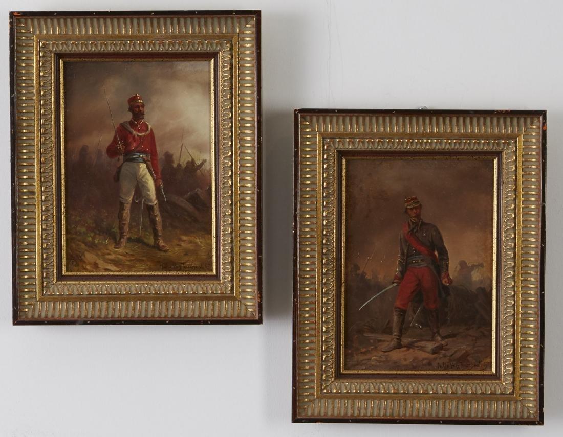 Pair of Oil Paintings by Jules Van Imschoot