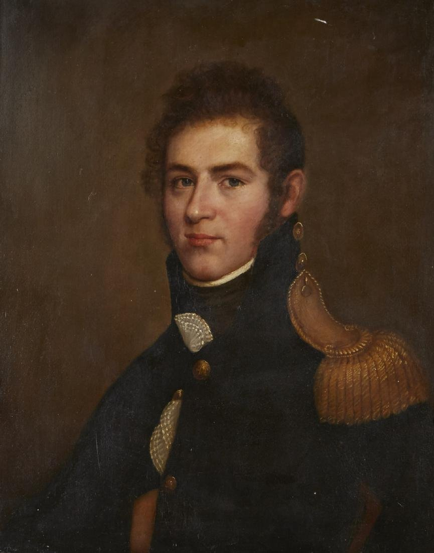 Oil Painting Royal Navy Officer 19th Century