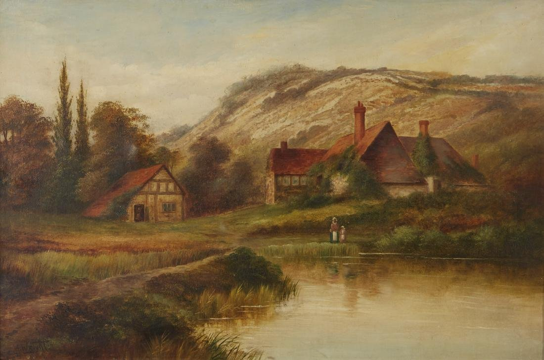 Two Landscapes Cox and Wright Oil on Canvas - 4