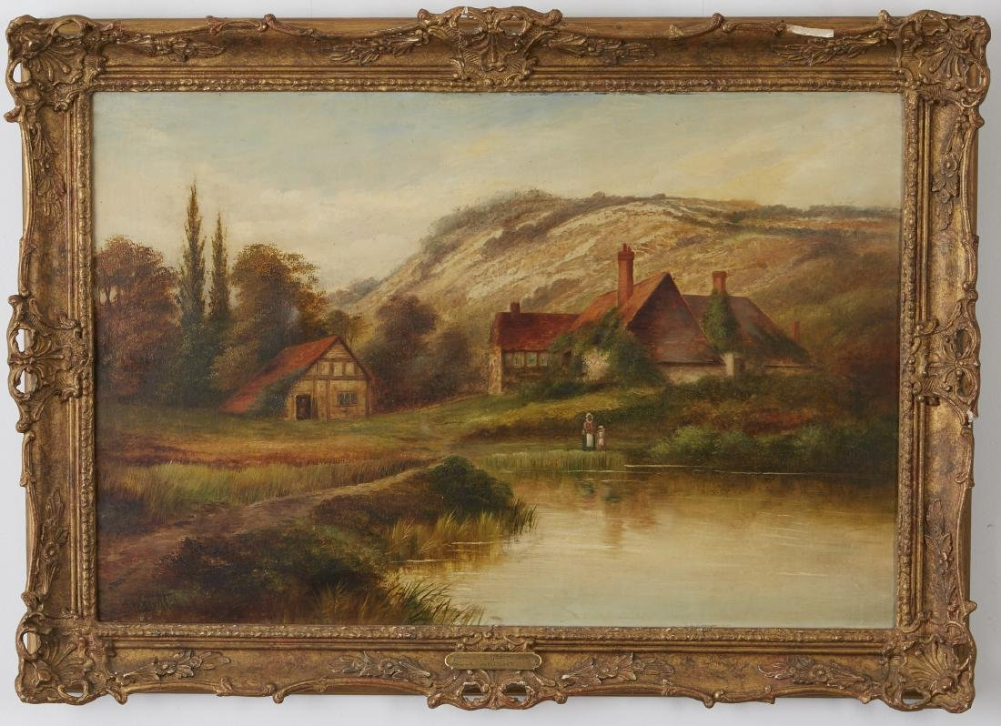 Two Landscapes Cox and Wright Oil on Canvas - 5
