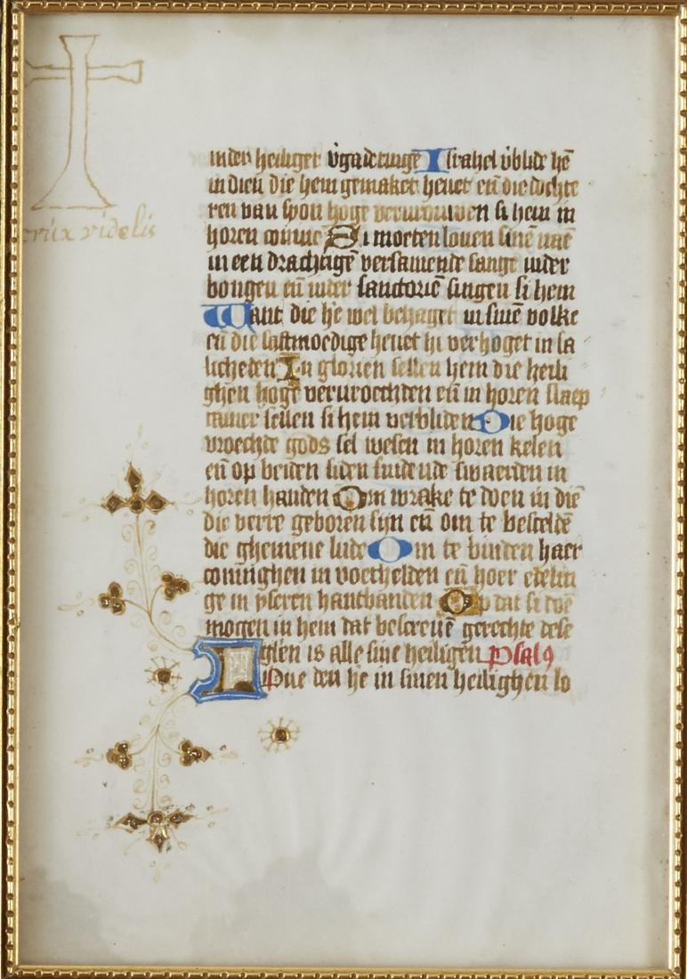Missal Page Book of Hours