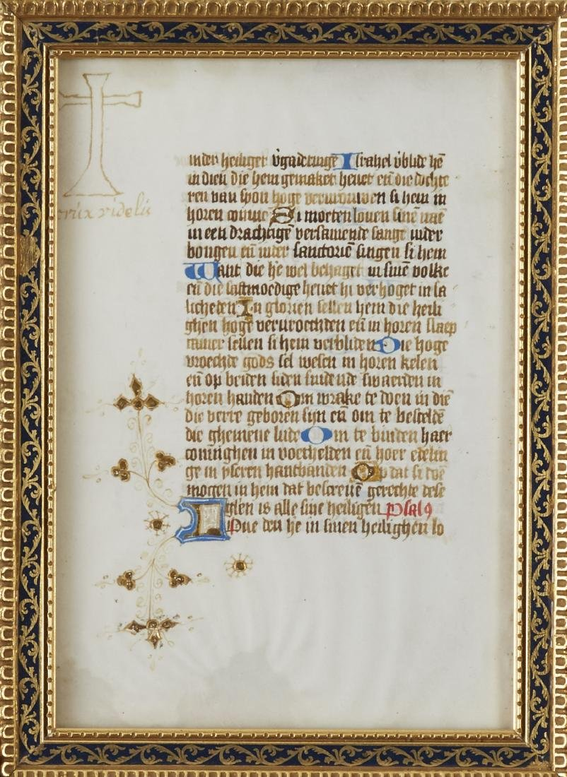 Missal Page Book of Hours - 2