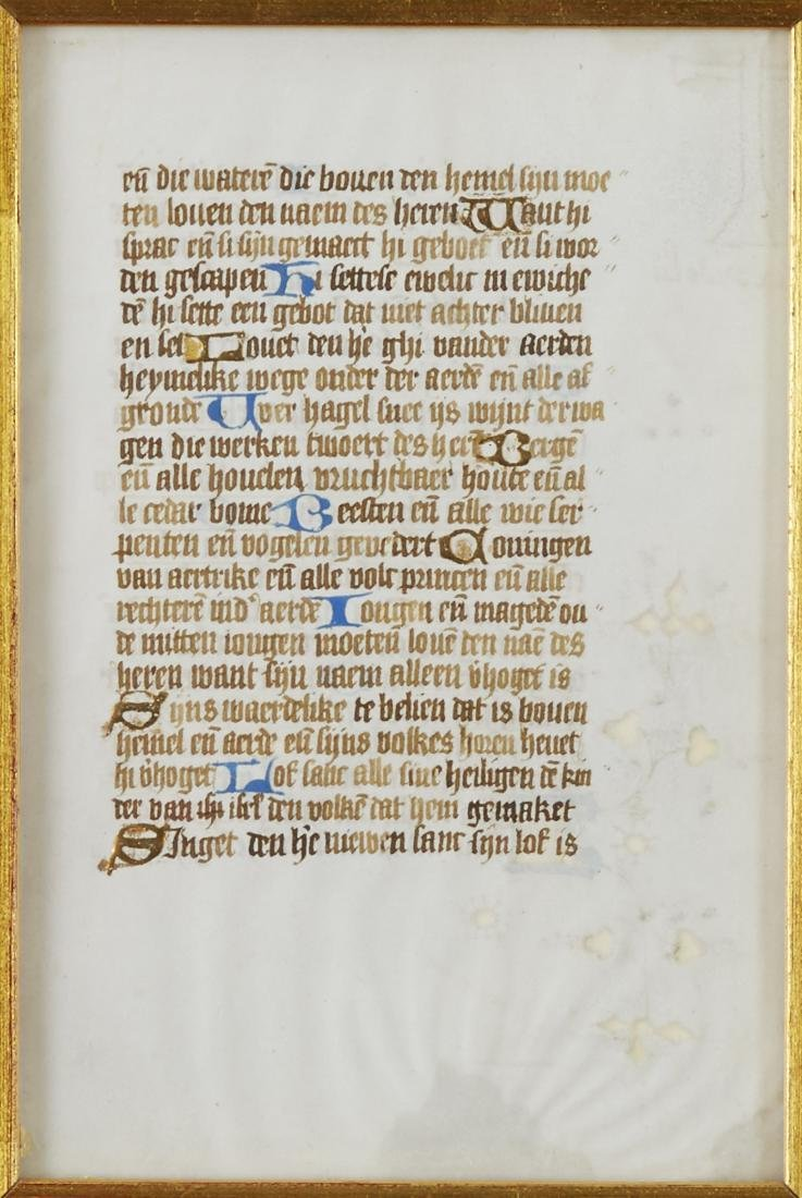 Missal Page Book of Hours - 3