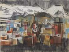 Elof Wedin Pastel on Paper