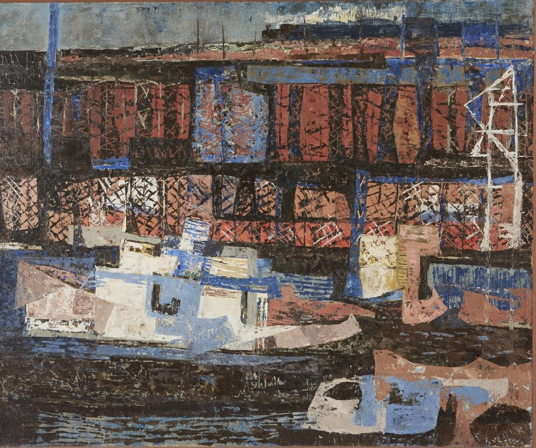 Elof Wedin Abstract Painting Ore Docks
