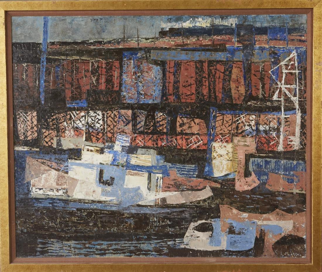 Elof Wedin Abstract Painting Ore Docks - 2