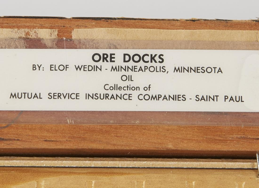 Elof Wedin Abstract Painting Ore Docks - 3