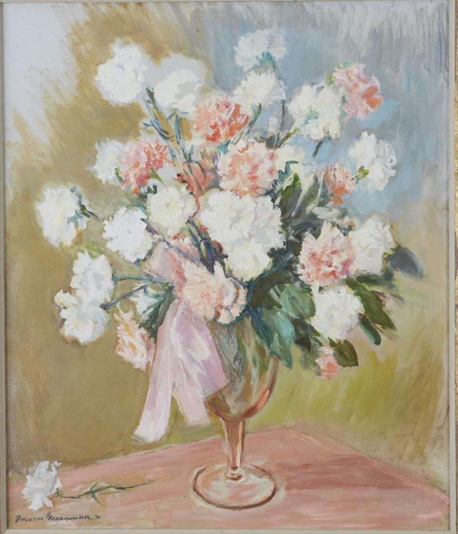 Frances Greenman Flowers Still Life Oil Painting