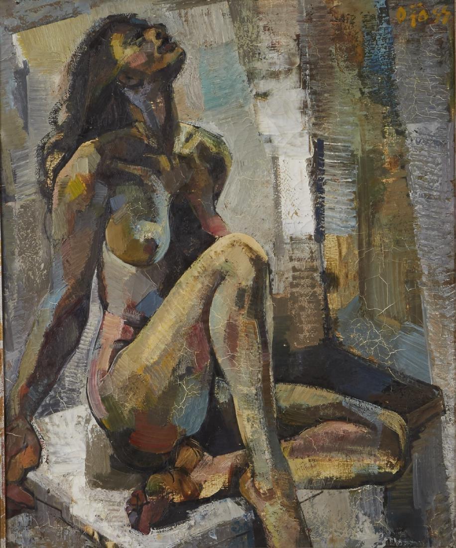 Olivier Foss Oil on Canvas Nude