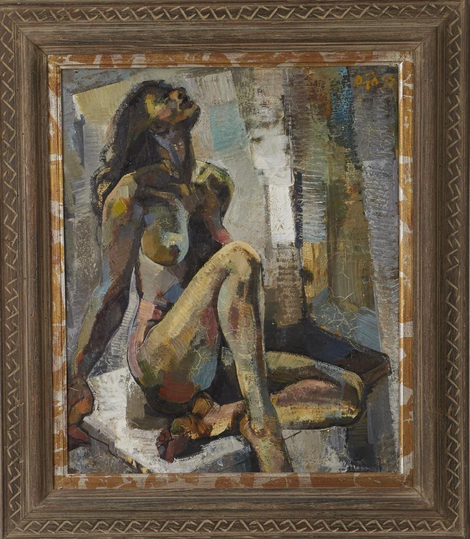 Olivier Foss Oil on Canvas Nude - 2