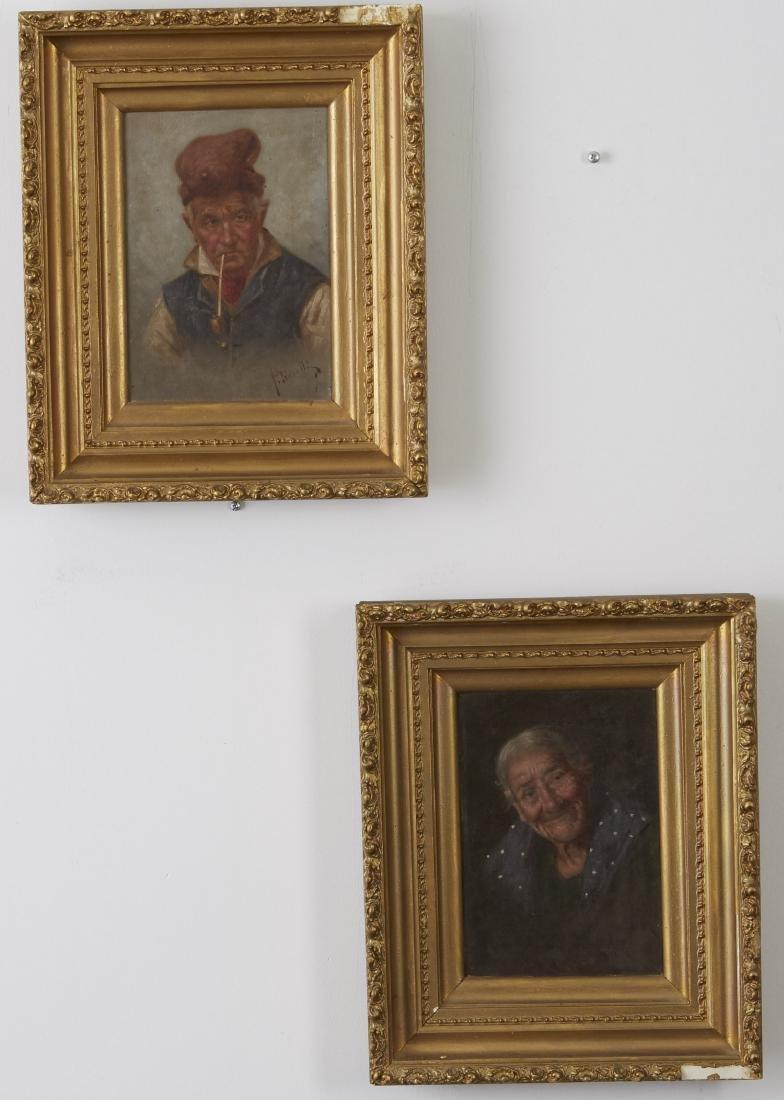 Petrocelli Pair of Oil Paintings