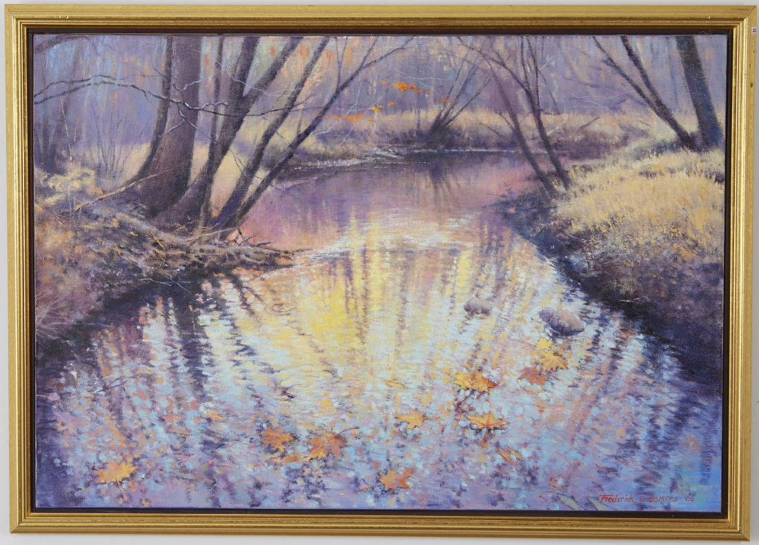 4 Landscsape Paintings Somers, Lowell, and Moen