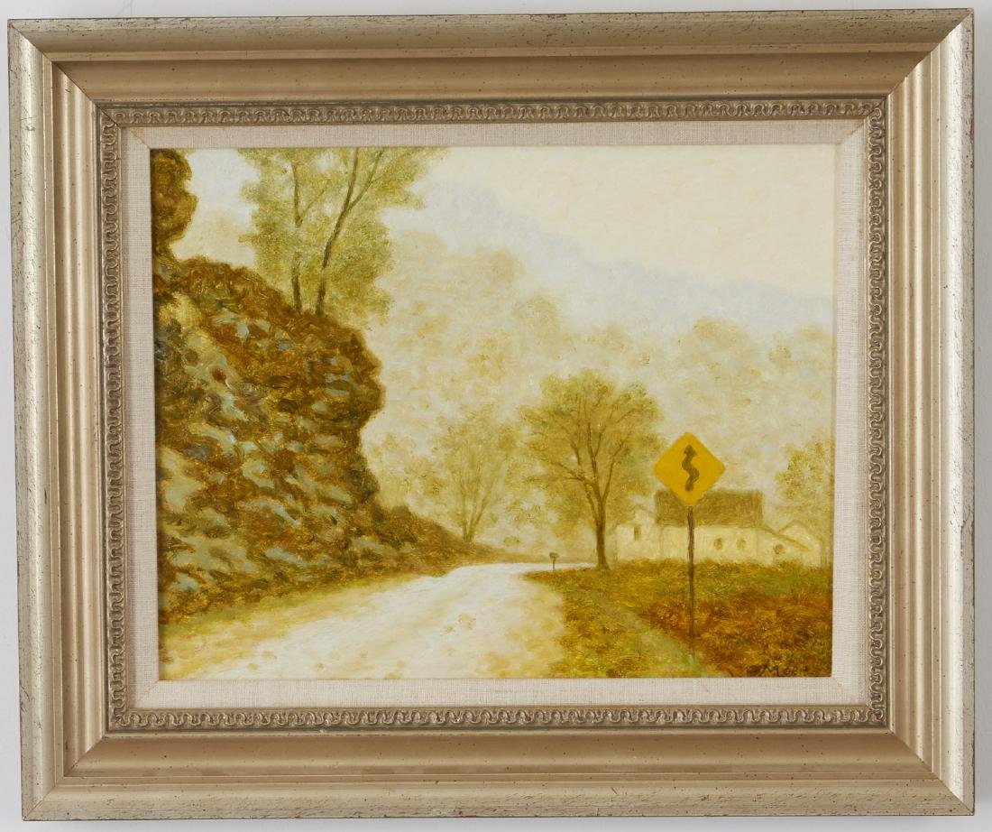 4 Landscsape Paintings Somers, Lowell, and Moen - 2