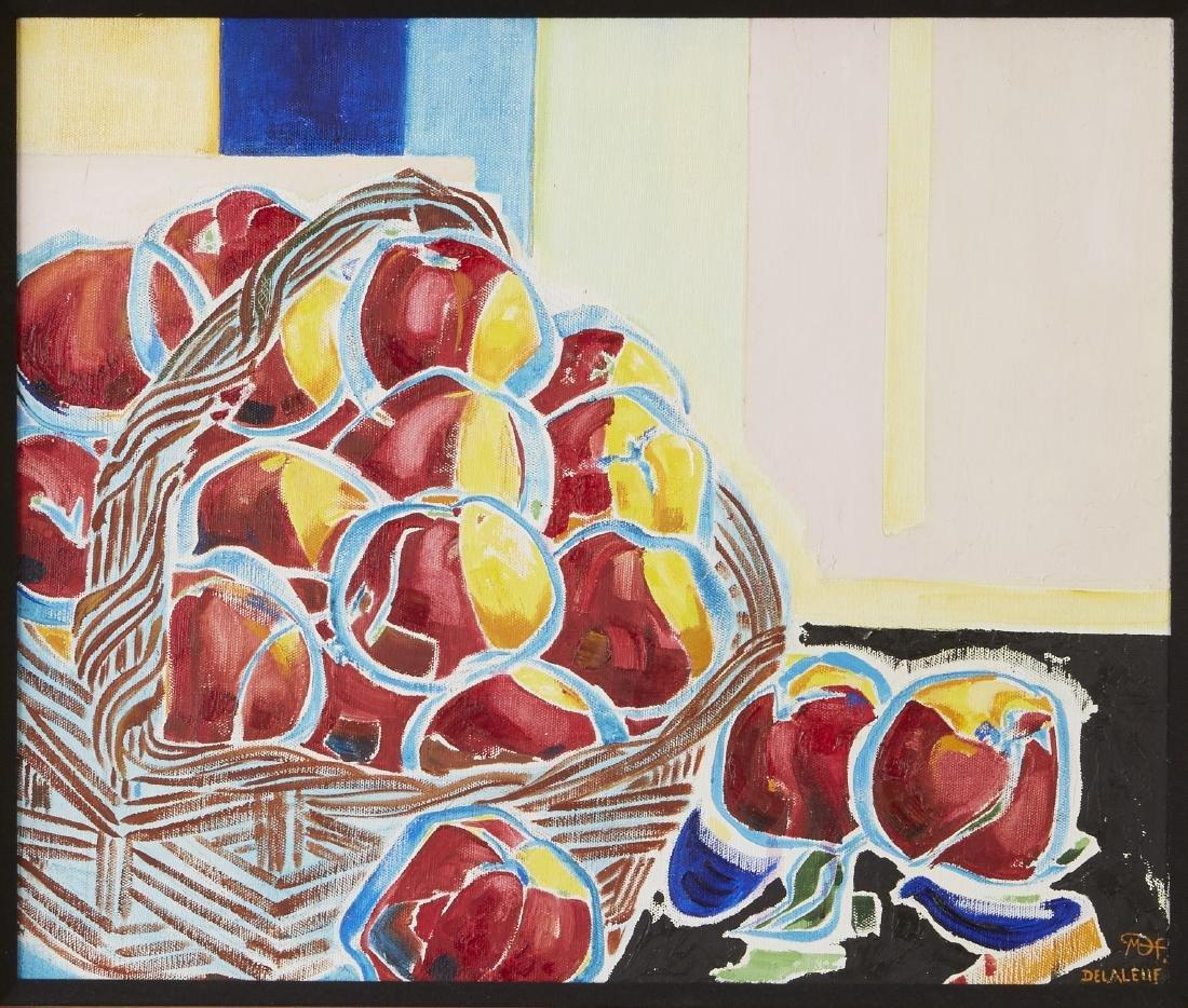 Martine Delaleuf Les Pommes Faraud Oil on Canvas