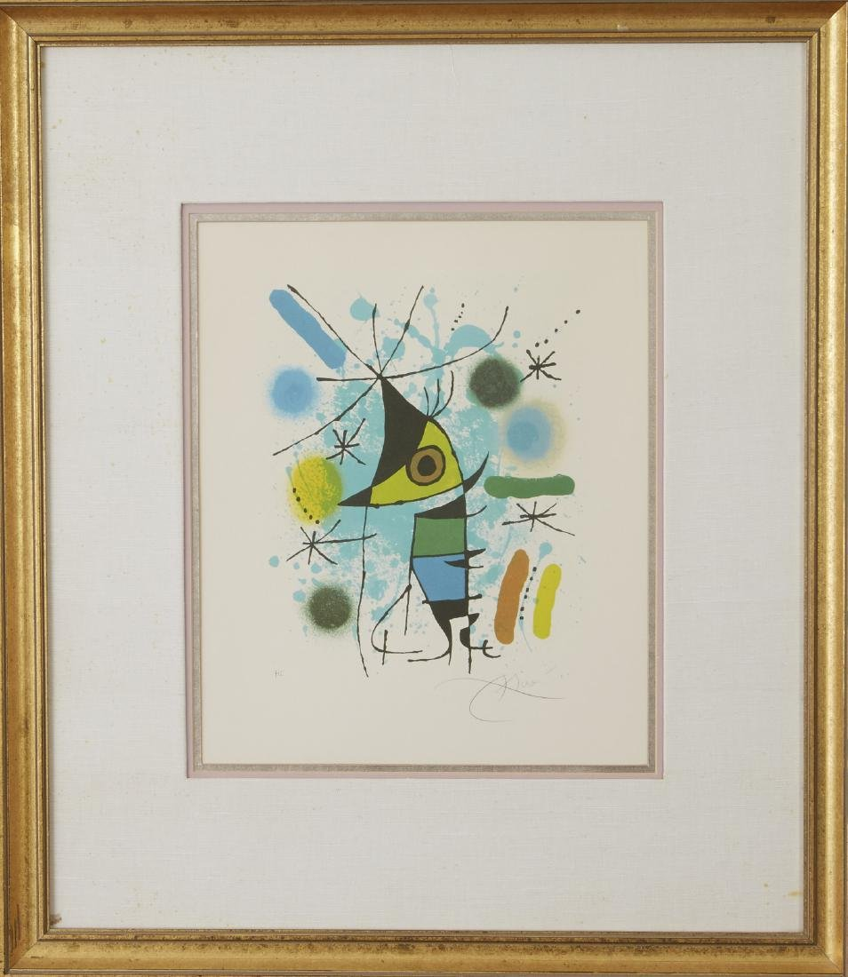 Joan Miro Volume 1 Fish Lithograph - 2