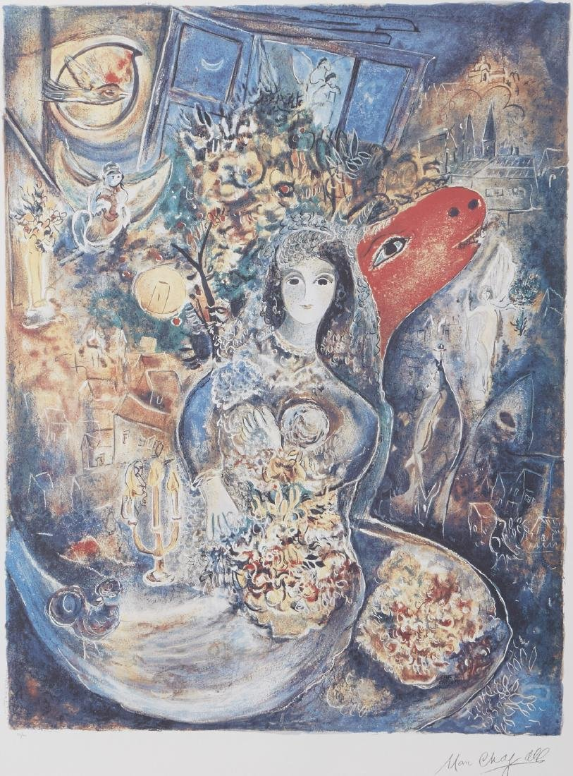 Marc Chagall Bella Offset Lithograph