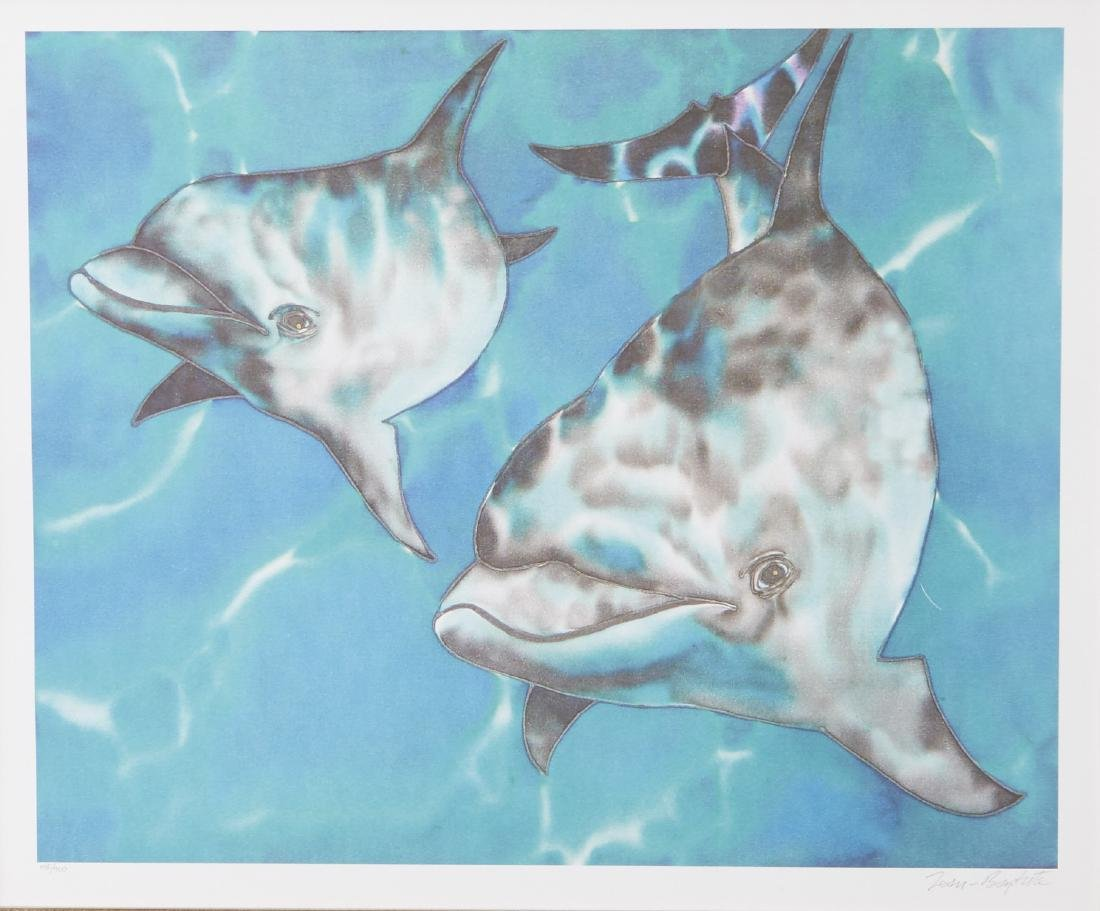 Jean Baptiste Dolphin Color Lithograph