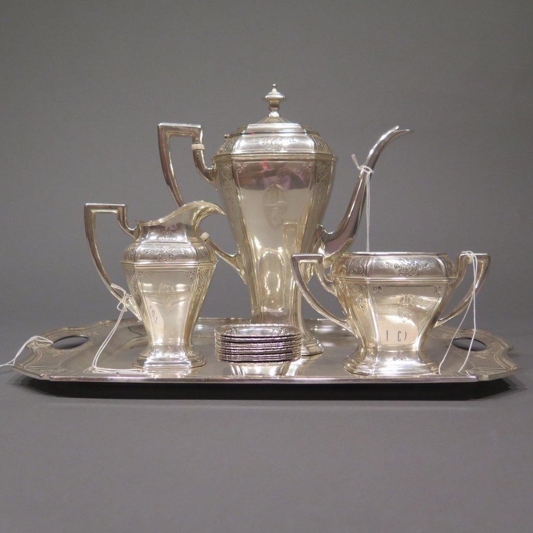 Sterling Silver Tea Set Reed & Barton