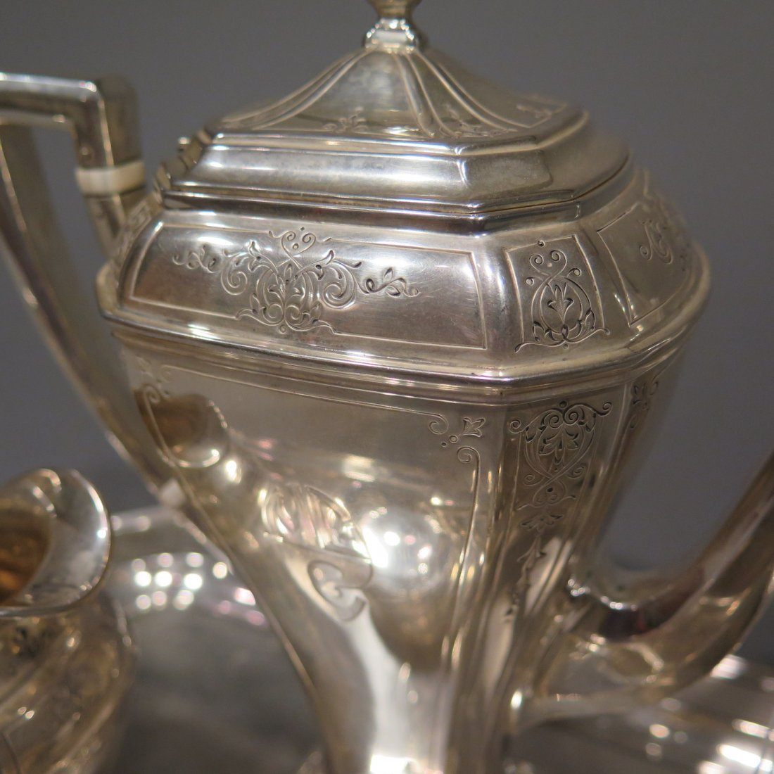 Sterling Silver Tea Set Reed & Barton - 2