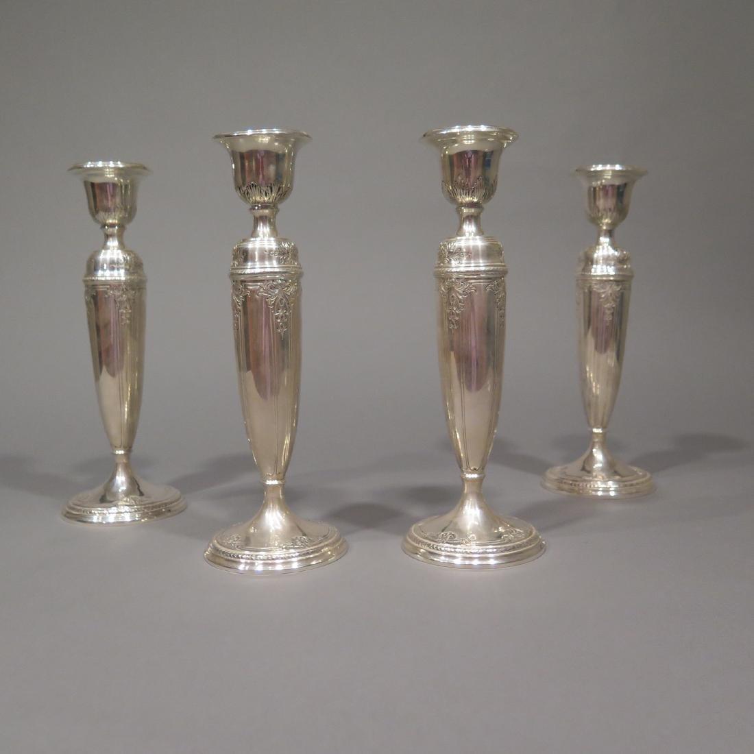 4 Sterling Silver Candlesticks