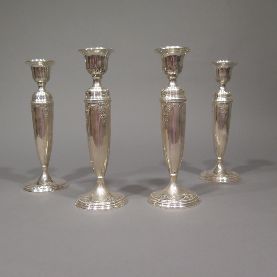 4 Sterling Silver Candlesticks
