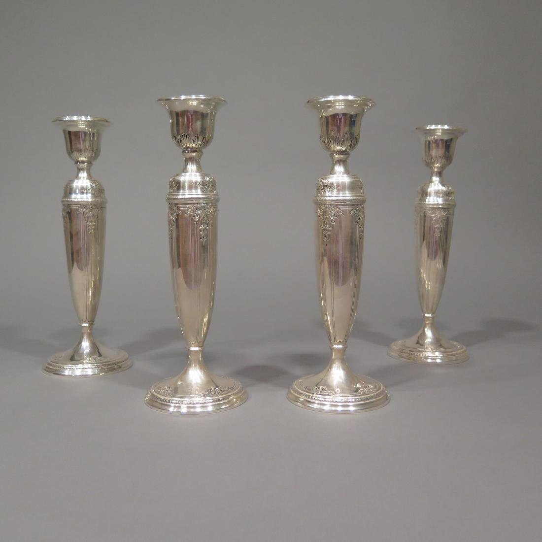 4 Sterling Silver Candlesticks - 2