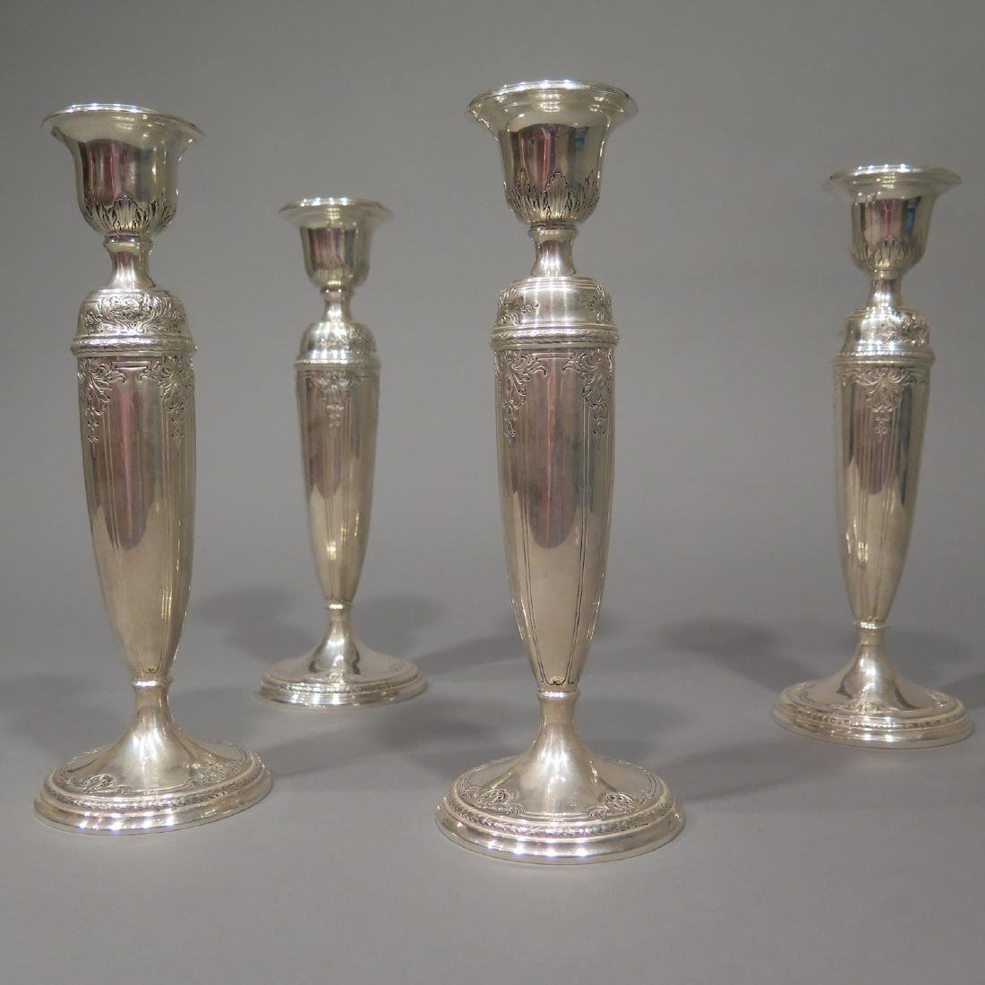 4 Sterling Silver Candlesticks - 3