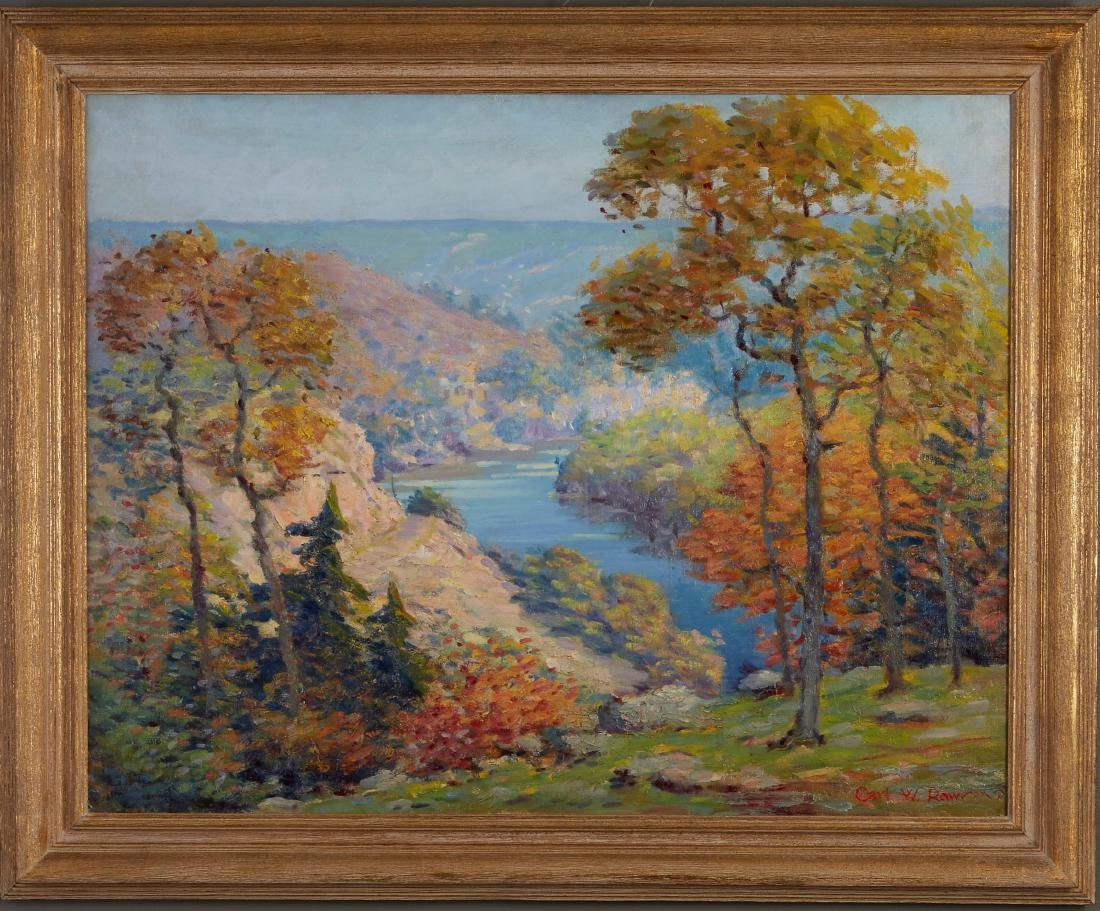 Carl Rawson St. Croix River Valley Oil on Canvas