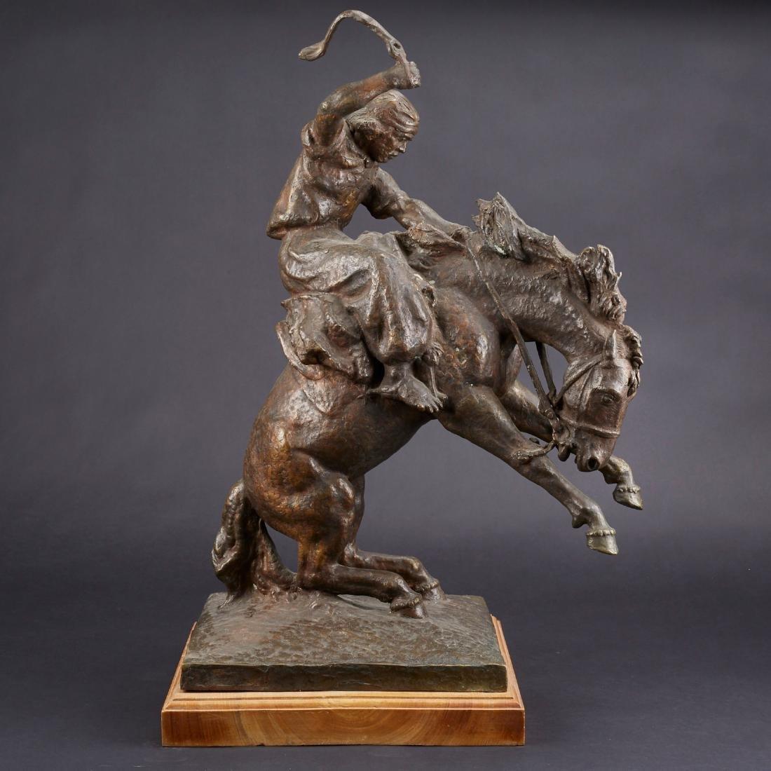 Jose Belloni Jineteando Bronze Sculpture