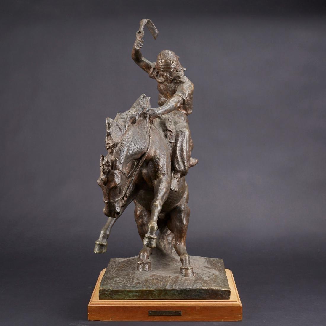 Jose Belloni Jineteando Bronze Sculpture - 2