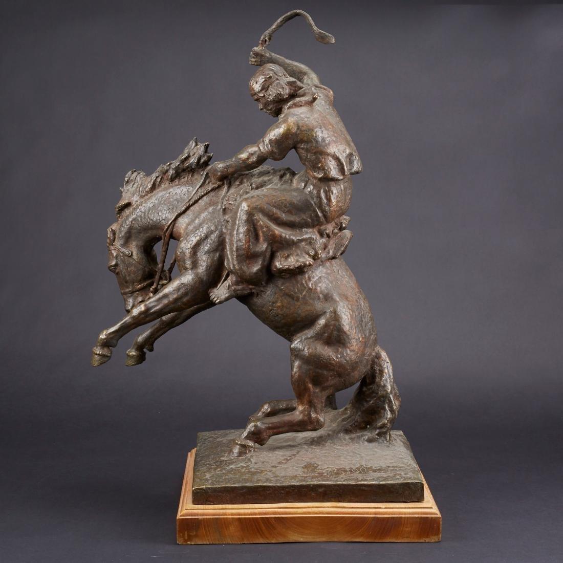 Jose Belloni Jineteando Bronze Sculpture - 4