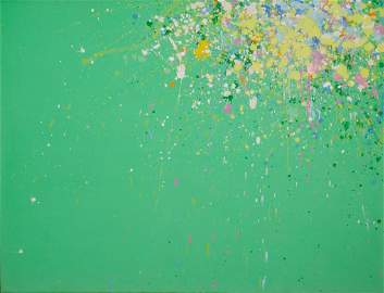 Walasse Ting All My Life is a Spring Acrylic on Canvas