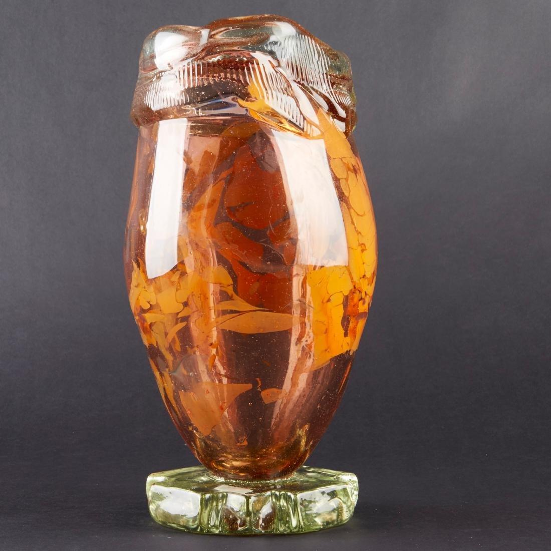 Fritz Dreisbach Glass Vase