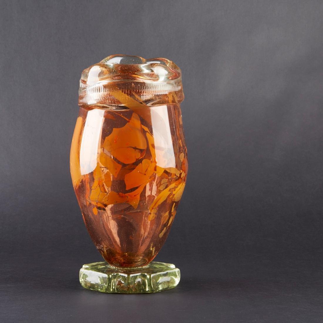Fritz Dreisbach Glass Vase - 2