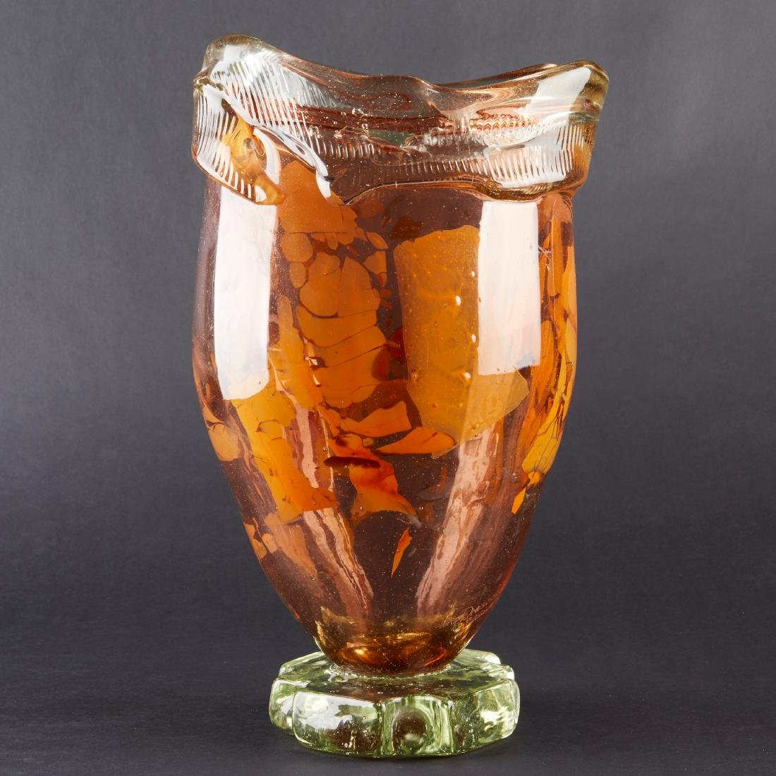 Fritz Dreisbach Glass Vase - 4