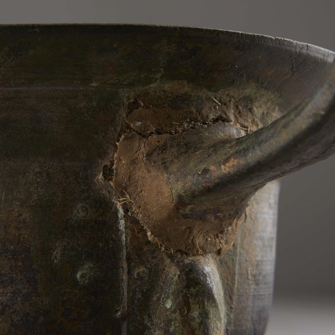 Chinese Bronze Han Dynasty Tripod Cooking Vessel - 8